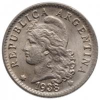 "Аргентина 5 сентаво 1938 г., BU, ""Песо аргентинское (1881 - 1969)"""