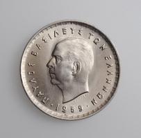 """Греция 10 драхм 1959 г., UNC, """"Король Павел I (1954 - 1965)"""""""