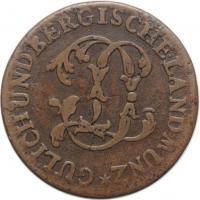"Юлих-Берг 1/2 штюбера 1774 г. PM, XF, ""Герцог Карл Теодор (1742 -1799)"""