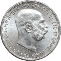 """Австрия 2 кроны 1912 г., UNC, """"Император Франц Иосиф I (1848 - 1916)"""""""