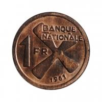 """Катанга 1 франк 1961, UNC, """"Государство Катанга (1960 - 1963)"""""""