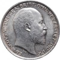 """Великобритания 6 пенсов 1906 г., UNC, """"Король Эдуард VII (1902 - 1910)"""""""