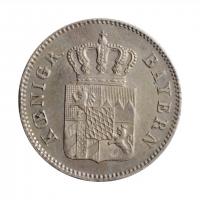 "Бавария 6 крейцеров 1848 г., AU, ""Король Людвиг I (1825 - 1848)"""