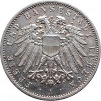 """Любек 2 марки 1905, UNC, """"Свободный город (1871 - 1918)"""""""