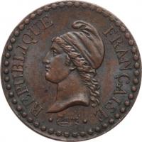 """Франция 1 сантим 1849 г. A, UNC, """"Вторая Республика (1848 - 1851)"""""""
