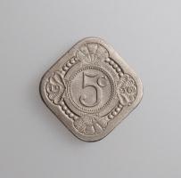 """Нидерланды 5 центов 1936 г., UNC, """"Королева Вильгельмина (1890 - 1948)"""""""