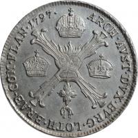 "Австрийские Нидерланды 1/4 кроненталера 1797 г. B, UNC, ""Император Франц II (1792 - 1835)"""