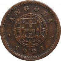 """Ангола 2 сентаво 1921 г., AU, """"Португальская колония (1921 - 1974)"""""""
