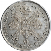 "Австрийские Нидерланды 1/4 кроненталера 1789 г. B, UNC, ""Император Иосиф II (1780 - 1790)"""
