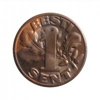 """Эстония 1 сент 1929, BU, """"1ая Республика (Крона) (1928 - 1940)"""""""