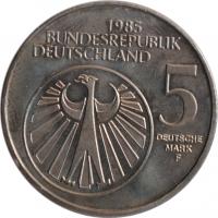"""Германия - ФРГ 5 марок 1985 г., UNC, """"Европейский год музыки"""""""