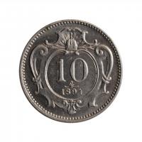 """Австрия 10 геллеров 1894 г., UNC, """"Император Франц Иосиф (1848 - 1916)"""""""