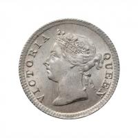 """Гонконг 5 центов 1897 г., BU, """"Королева Виктория (1863 - 1901)"""""""