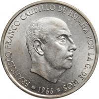"""Испания 100 песет 1966 (67) г., UNC, """"Каудильо Франсиско Франко (1939 - 1975)"""""""