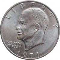 "США 1 доллар 1971 г. D, UNC, ""Эйзенхауэр"""