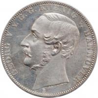"""Ганновер 1 союзный талер 1864 г., UNC, """"Король Георг V (1851 - 1866)"""""""