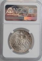 """Брауншвейг 3 марки 1915 г., NGC MS63+, """"Свадьба и вступление на престол Эрнста Августа"""""""