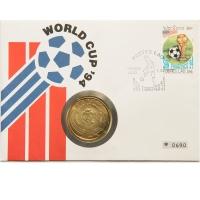 """Лаос 50 кипов 1991 г., BU, """"Чемпионат мира по футболу 1994"""""""