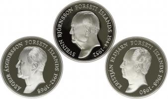 """Исландия набор 1000 крон 1994 г., PROOF, """"50-летие Республики Исландия - Президенты"""""""
