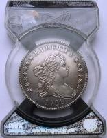 США 1 доллар 1799 г., RNGA AU55, 'Draped Bust Dollar'