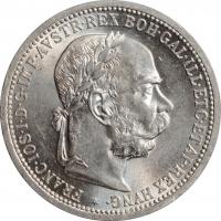"Австрия 1 крона 1901 г., BU, ""Император Франц Иосиф (1848 - 1916)"""