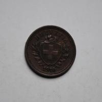 Швейцария 1 раппен 1910 г., РЕДКИЙ ГОД
