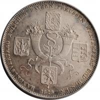 Бавария 1 талер 1829 г., XF, 'Коммерческий договор между Баварией, Пруссией, Гессеном, Вюртембергом'