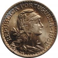 Португалия 1 эскудо 1952 г., BU, 'Португальская Республика (1911 - 1969)'