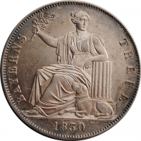 Бавария 1 талер 1830 г., XF, 'Лояльность баварцев королевской семье'