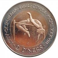 Андорра 2 динера 1985 г., UNC, 'XXIV летние Олимпийские Игры, Сеул 1988'