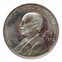 Мальта 1 лира 1972 г., AU, 'Мануэль Димех'