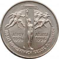 Польша 2 злотых 1995 г., '100 лет Олимпийским Играм'