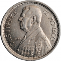 """Монако 20 франков 1947 г., UNC, """"Князь Луи II (1922 - 1949)"""""""