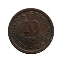 Ангола 10 сентаво 1949 г., UNC, '300 лет революции 1648 года'