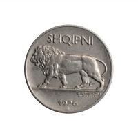 "Албания 1/4 лека 1926 г., XF, ""Королевство Албания (1925 - 1938)"""