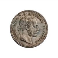 """Австрия 10 крейцеров 1870 г., UNC, """"Император Франц Иосиф I (1848 - 1916)"""""""
