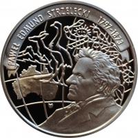 Польша 10 злотых 1997 г., PROOF, '200 лет со дня рождения Павела Стшелецкого'