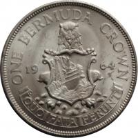 "Бермуды 1 крона 1964 г., BU, ""Королева Елизавета II (1959 - 1964)"""