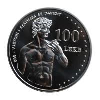 """Албания 100 лек 2001 г., BU, '500 лет """"Давиду"""" Микеланджело'"""