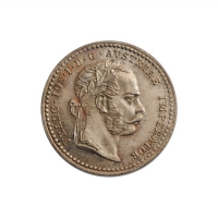 """Австрия 10 крейцеров 1869 г., UNC, """"Император Франц Иосиф I (1848 - 1916)"""""""