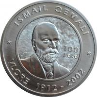 Албания 100 лек 2002 г., BU, '90-летие албанской Декларации о независимости'