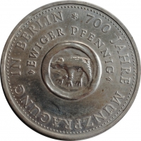 """ГДР 10 марок 1981 г., AU, """"700 лет чеканки монет в Берлине"""""""