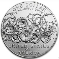"""США 1 доллар 2018 г., BU, """"100-летие окончания Первой мировой войны"""""""