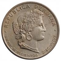 Перу 20 сентаво 1920 г., UNC, 'Республика (1918-1985)'