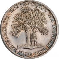 "Ганновер 1 талер 1865 г., PROOFLIKE, ""Фризская Присяга"""