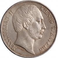 """Бавария 1 талер 1864 г., UNC, """"Король Максимилиан ІІ (1848 - 1864)"""""""