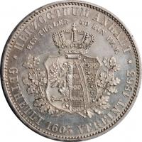 Ангальт 1 союзный талер 1863 г., AU, '280 лет со дня отделения ангальтских герцогств'
