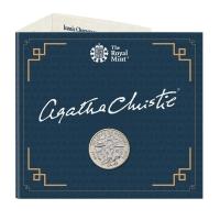 """Великобритания 2 фунта 2020 г., BU, """"100 лет первой книге Агаты Кристи"""""""