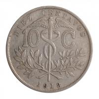 """Боливия 10 сентаво 1918 г., XF, """"Республика Боливия (1870 - 1963)"""""""