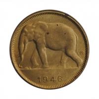 """Бельгийское Конго 1 франк 1946 г., BU, """"Колония Бельгии (1909 - 1949)"""""""